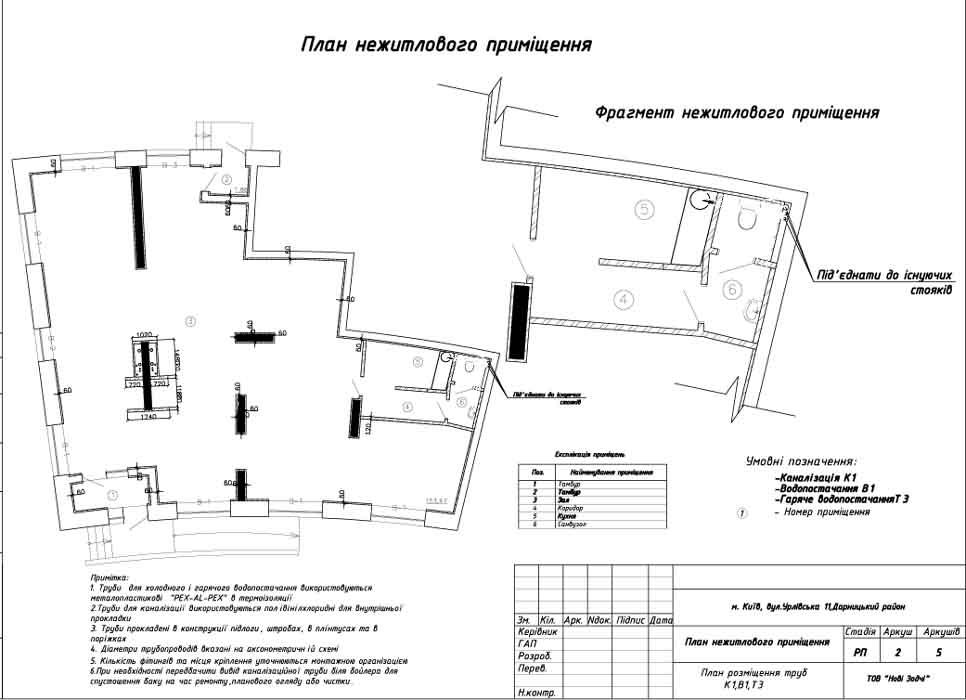 Приведен план помещения >>